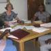 Elisabeth Gerger og hendes kollega Clare Orr holdt et forfatterværksted for at producere materiale om ebola på minoritetssprog i Senegal.