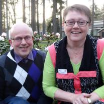 Margit og Erik Christensen ses her på et hollansk hotel under busturen med Felix Rejser sidst i april.
