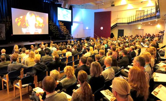 Deltagerne på sidste års GLS-lederkonference i København, inspireret af Bill Hybels i megakirken Willow Creek.