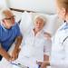 medicine, age, health care and people concept - senior woman, ma