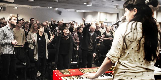 På Dansk Oases Ledersamling i København d. 23. januar blev der sat fokus på temaet Bibelen - autoritet og praksis. Foto: Sandie Lykke.